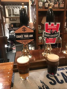 Swannay Brewery Chance Your Arm and Redcastle Brewery Dark Knight