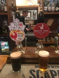 Tiny Rebel Morning Glory Breakfast Stout 4% and Campbell's White Tail Pale Ale 5% at the Stockbridge Tap