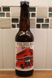 The Red Bus Brew. Edinbrew Limited of Livingston.  4.3% with Nugget, Columbus and Cascade Hops.  Only one bottle per driver.  Ever!