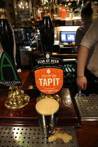 Thornbridge Tapit 6.0% Chocolate Orange Stout a banging good beer at the Guildford Arms