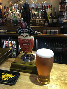 Welbeck Abbey Brewery Harley 4.3% at The Moon Inn, Stoney Middleton