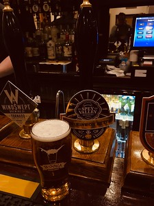 Spey Valley Brewery Sunshine on Keith 3.5% slowing the pace nicely at The Castle Tavern Inverness