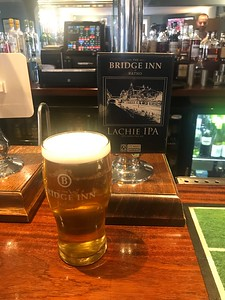 Lachie IPA 3.7% Stewart Brewing at The Bridge Inn Ratho. Soon to be the local