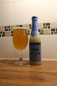 Delirium is what it is called, and at 8.5% could induce it if one is not experienced in matters beer.  Comes from the Belgian Family Brewery Huyghe which has been on the go since 1654, when elephants were used to transport the beer about....