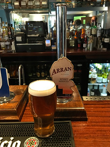 Arran Sunset Premium Ale 4.4% at The Bridge Inn, Ratho. Going down well...