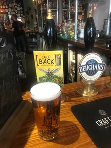 Stewart Brewing Jack Back IPA 3.7% at Hectors Stockbridge. A fine pint!
