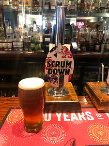 Greene King Scrum Down 4.1% at The Bridge Inn. Not the best pint I have had - but it might have originated in Dunbar....