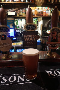 Hartleys Cumbria Way 4.1% at Hole in t' Wall, Bowness