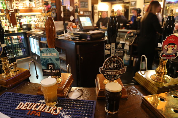 Fyne Ales Avalanche 4.5% and Spey Valley Spey Stout 5.6% both cracking beers at the Cask and Barrel Broughton Street