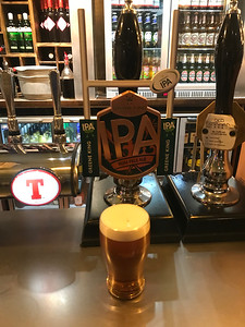 Greene King IPA 3.8% at what used to be the Talisman Bar at Waverley. Emergency half waiting for an HST move to Edinburgh Gateway