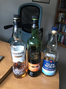 Glen Scotia Campbeltown Harbour, Loch Lomond 10YO and Glen Moray Elgin Classic Peated Single Malt are tonight's runners and riders at the Church Whisky Society