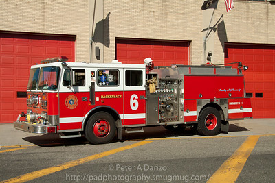 Hackensack NJ spare Engine 6 (ex E-2) 1995 Seagrave 1500gpm/750gwt pumper.