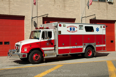 Hackensack NJ reserve Rescue 2, 1995 Freightliner FL80/Marion heavy rescue truck.