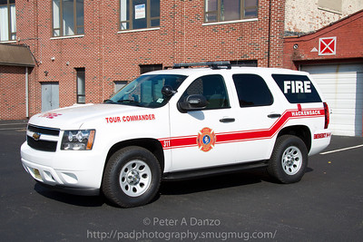 Hackensack NJ Fire Dept.Tour Commanders (Deputy Chief's) 2011 Chevrolet Tahoe (10-23-11)