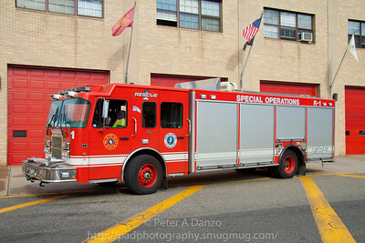 Hackensack NJ Rescue Co.1, 2006 Spartan/RescueOne heavy rescue truck.