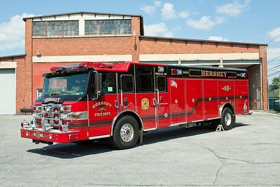 Hershey PA, Rescue 48, 2011 Pierce Velocity heavy rescue.