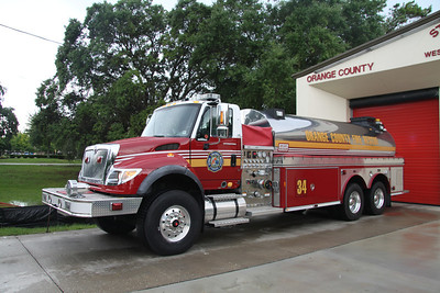 Orange County FL Fire/Rescue Tanker 34, 2007 Emergency One/International 500GPM/3500