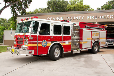 Orange County FL Fire Rescue Reserve Engine 200, 2002 Emergency One Typhoon 1250/500 pumper assigned to station 50.