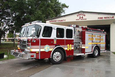 Orange County FL Fire/Rescue Engine 34, 2009 Emergency One Typhoon 1250GPM/750 pumper.
