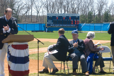 Baseball Field Dedication ceremony at Westfield State University honoring Bud & Jim Hagan