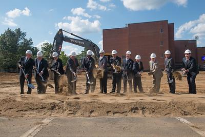 STEM Buidling groundbreaking at Westfield State University, Sept. 2014