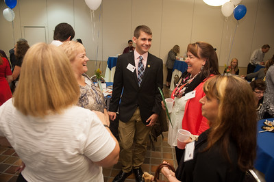 The Sweet Success Scholarship Reception in the Scanlon Banquet Hall at Westfield State University, October, 2014