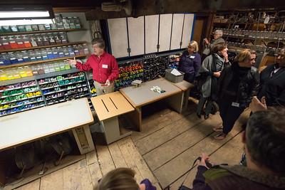 Tour of Shelburne, MA Glassblower Josh Simpson's studio; Part of a scholarship fundraiser for Westfield State University's AAUR Dept.