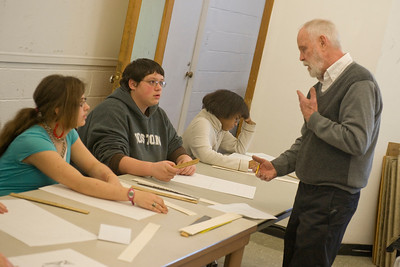 High School art students spend the day auditing art classes @ WSU