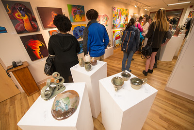 Westfield State University Student Art show at the Arno Maris Gallery in the Ely Campus Center