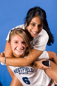 2011 Westfield State University Women's Soccer team and headshots