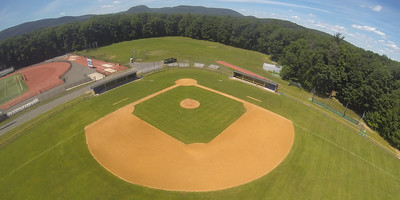 Areial images of Westfield State University's Athletic fields, June 2016