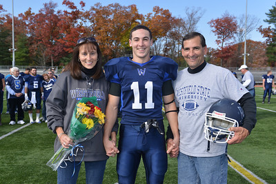 Westfield State v Fitchburg in Football action at Alumni Field. In addition, it was also Senior Day; the final home game for graduating seniors