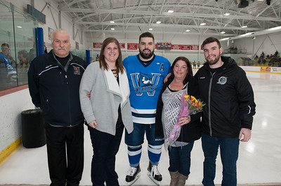 Ice Hockey Senior Night, Feb. 2018