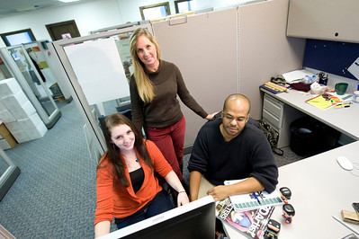 Career Services Interns from Westfield State University on the job. Fall 2012