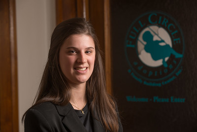 Westfield State University student Kaitlin Keet at her internship with Full Circle Adoptions in Northampton, MA