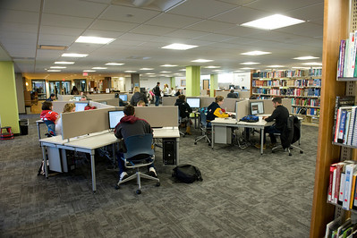 The new rennovations to the Westfield State University Ely Library, Dec. 2012