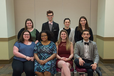 Sigma Tau Delta, English Honors induction, April 2017