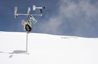 PHOTO NOTE: THIS WEATHER STATION IS ONE THAT BELONGS TO INNSBRUCK UNIVERSITY. CARSTEN ASKED THAT WE NOT USE THIS IMAGE, BUT INSTEAD, ONE OF THE OTHER WEATHER STATION IMAGES.