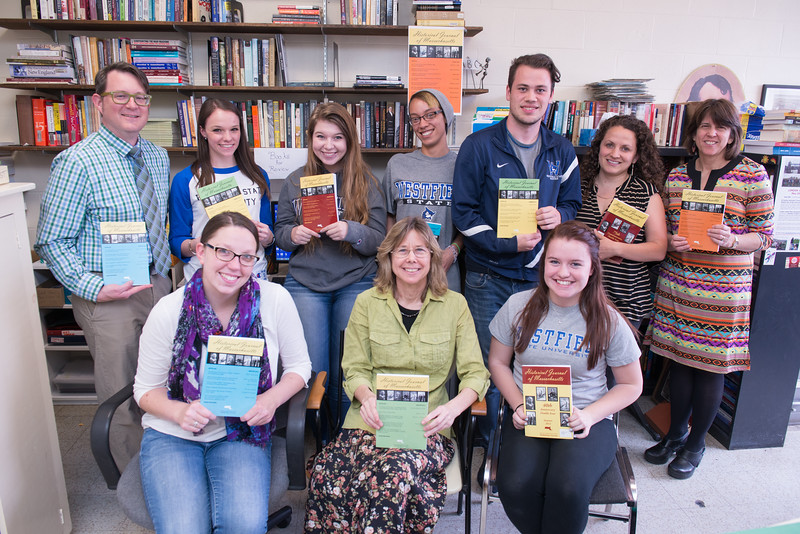 Westfield State University History students, and contributors to the Historical Journal of Massachsusetts, with department faculty members