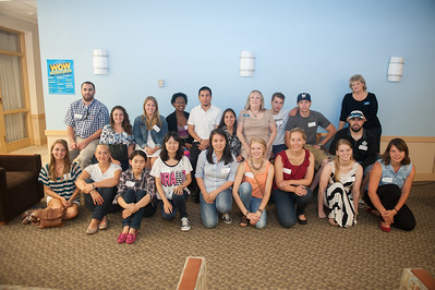 Inernational Student Orientationin the Scanlon Living Room at Westfield State University, September 2014