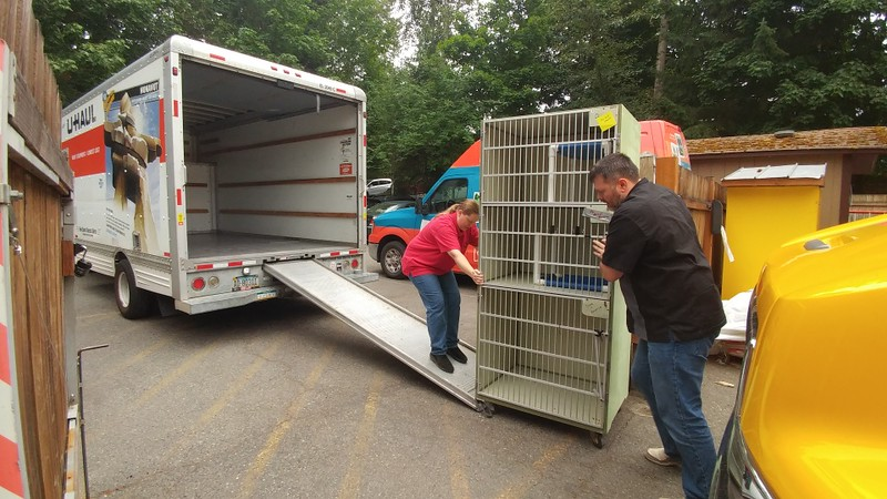 Area rescue groups hauling away surplus items