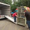 Area rescue groups hauling away surplus items