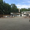 "Campus view after the ""temporary"" trailers were hauled away"
