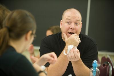 Westfield State University Mathematics professor Julian Fleron teaches complex mathematical concepts to non-math major students