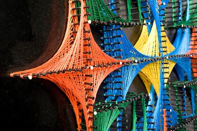 Mathematics student string art. For Julian Fleron's class