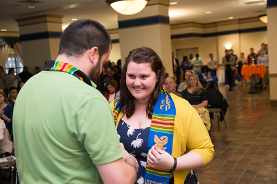 The 2016 Sankofs stolling ceremony at Westfield State University