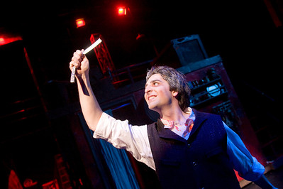 WSU's production of Sweeny Todd on the Dever stage