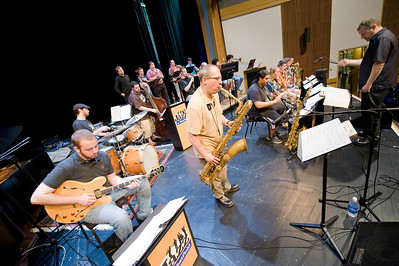 Westfield State University Big Band performs on Dever Stage