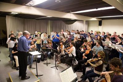 WSU Festival Chorus rehearsal. AllanTaylor conducting.