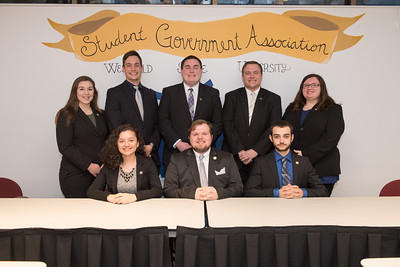 The Westfield State University Student Government Executive Council, December 2016